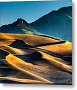 Great Sand Dunes At Dawn Metal Print
