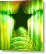 Green Christmas Star Metal Print by Gaspar Avila