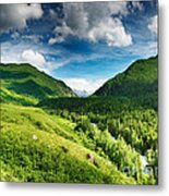 Green Mointain Metal Print