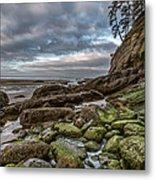 Green Stone Shore Metal Print