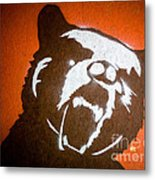 Grizzly Bear Graffiti Metal Print by Edward Fielding