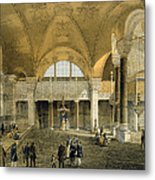 Haghia Sophia, Plate 9 The New Imperial Metal Print by Gaspard Fossati