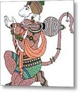 Hanuman Metal Print by Kruti Shah