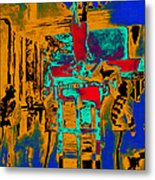 Harry Houdini And The Chinese Water Torture In Abstract Metal Print by Wingsdomain Art and Photography