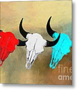 Hart's Camp Buffalo Skulls Metal Print by GCannon