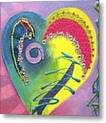 Heartworks Metal Print by Debi Starr