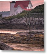 Hendricks Head Light At Sunset - Portrait Metal Print by At Lands End Photography
