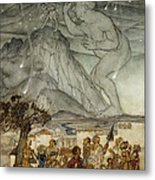 Hercules Supporting The Sky Instead Of Atlas Metal Print by Arthur Rackham