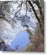 Hermit Waterfalls In Fall Metal Print