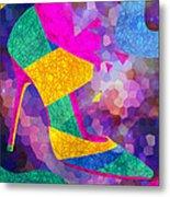 High Heels On Ropes Metal Print by Kenal Louis