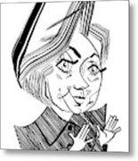 Hillary Clinton Debate Metal Print