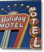Holiday Motel Las Vegas Metal Print by Edward Fielding