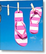 Holiday Washing Line Metal Print by Amanda Elwell