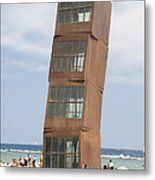 Homenatge A La Barceloneta - Artwork By Rebbeca Horn On A Beach In Barcelona Metal Print by Matthias Hauser