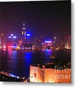 Hong Kong Skyline Metal Print by Pixel  Chimp