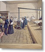 Hospital At Scutari, Detail Of Florence Metal Print by William 'Crimea' Simpson