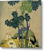 House And Garden Cover Metal Print by H. George Brandt