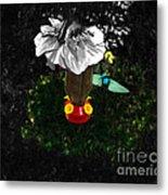Hummingbird In The Spotlight Metal Print by Al Bourassa