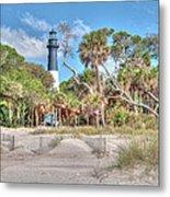 Hunting Island - Beach View Metal Print