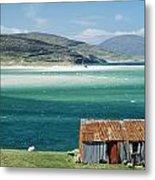 Hut On West Coast Of Isle Metal Print by Rob Penn