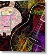 If Not For Color Digital Banjo And Guitar Art By Steven Langston Metal Print by Steven Lebron Langston