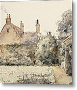 In The Garden Metal Print by Childe Hassam