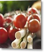 Ingredients For Tomato Sauce Metal Print by Mythja  Photography
