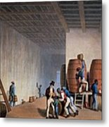 Inside The Distillery, From Ten Views Metal Print