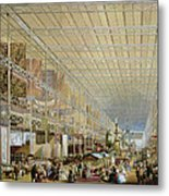 Interior Of The Great Exhibition Of All Metal Print by Edmund Walker