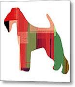 Irish Terrier Metal Print by Naxart Studio