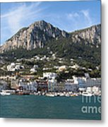 Island Capri Panoramic Sea View Metal Print