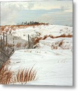 Island Snow Metal Print by JC Findley
