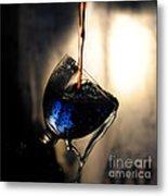 It Is Red And Blue Metal Print by Randi Grace Nilsberg