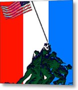 Iwo Jima 20130210 Red White Blue Metal Print
