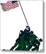 Iwo Jima 20130210-white Metal Print by Wingsdomain Art and Photography