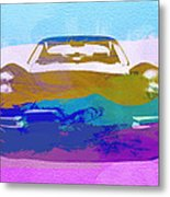 Jaguar E Type Front Metal Print by Naxart Studio