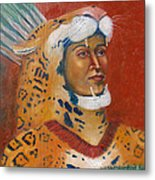 Jaguar Knight Popoca Metal Print by Lilibeth Andre