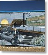 James Dean Mural In Tucumcari On Route 66 Metal Print by Carol Leigh