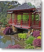 Japanese Bridge At Emu Valley Metal Print