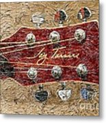 Jay Turser Guitar Head - Red Guitar - Digital Painting Metal Print