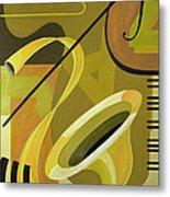 Jazz Metal Print by Carolyn Hubbard-Ford
