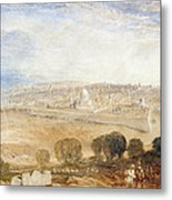 Jerusalem From The Mount Of Olives Metal Print by Joseph Mallord William Turner