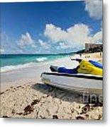 Jet Ski On The Beach At Atlantis Resort Metal Print