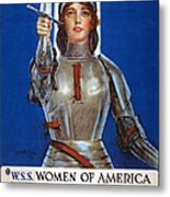 Joan Of Arc Saved France Metal Print by William Haskell Coffin