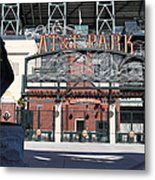 Juan Marichal At San Francisco Att Park . 7d7640 Metal Print by Wingsdomain Art and Photography