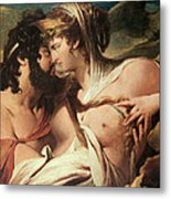 Jupiter And Juno On Mount Ida Metal Print