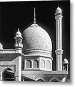 Kashmir Mosque Monochrome Metal Print by Steve Harrington