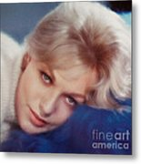 Kim Novak Blue Metal Print by Frank Bez