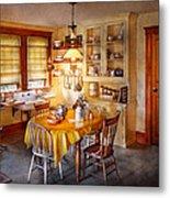 Kitchen - Typical Farm Kitchen  Metal Print by Mike Savad