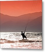 Kite Surfing Metal Print by Gabriela Insuratelu